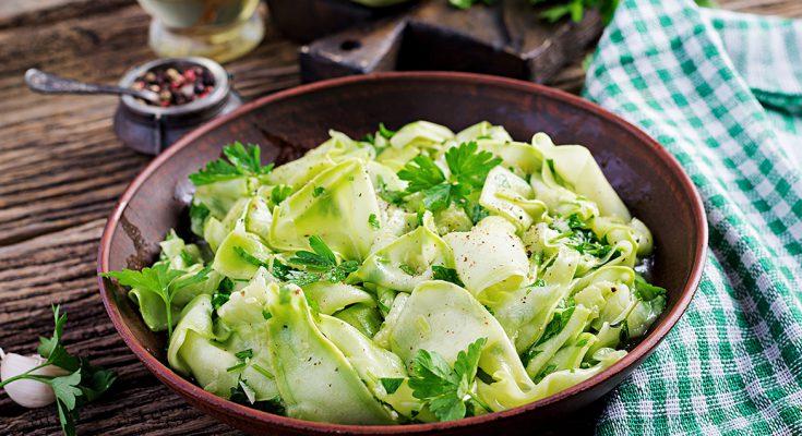 Zucchini and Avocado Carpaccio.